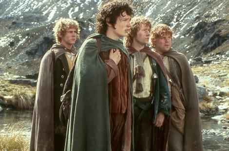 A scene from The Lord of the Rings: Fellowship of the Ring.