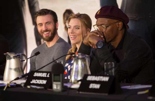 """Marvel's """"Captain America: The Winter Soldier UK Press Conferenc"""